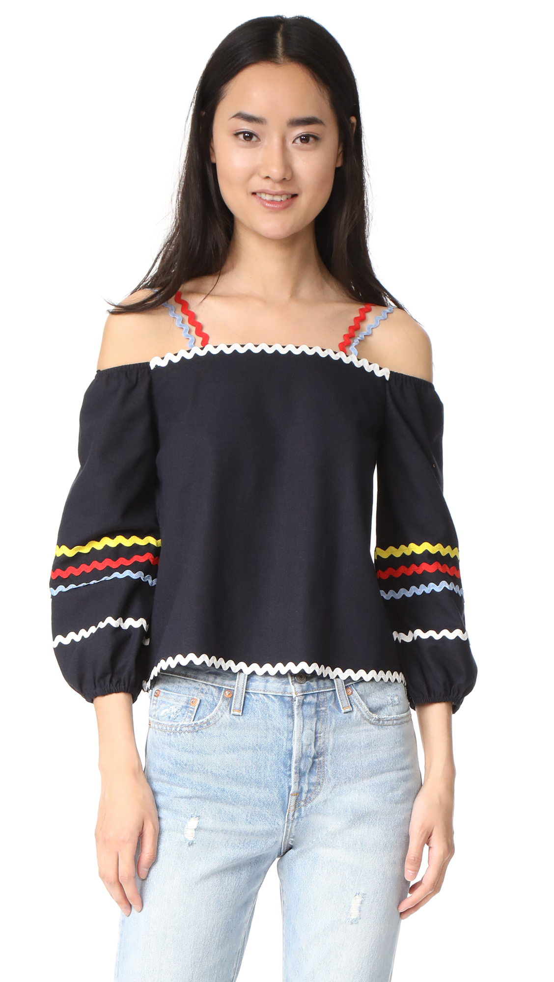 ENGLISH FACTORY Off Shoulder Top