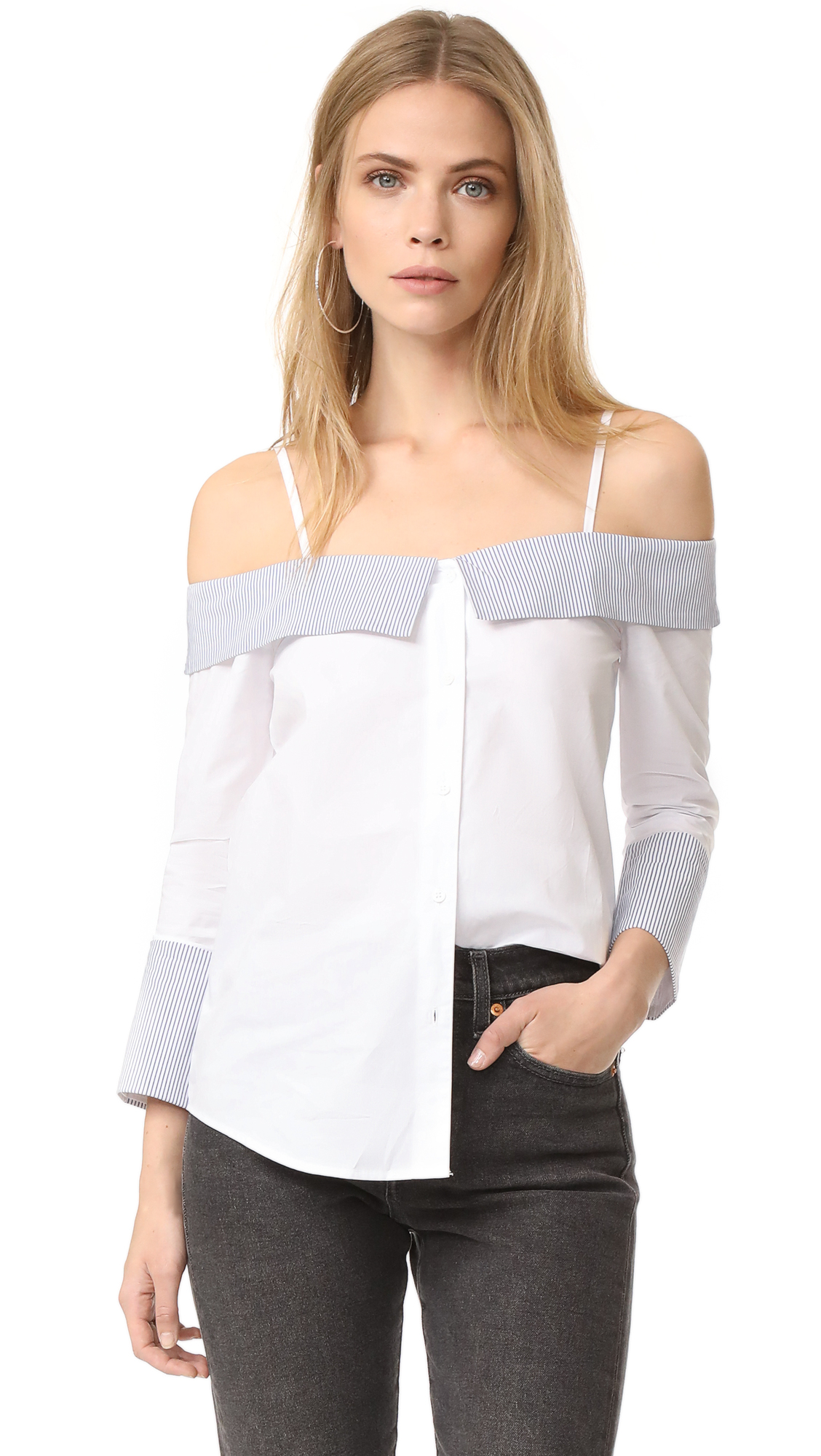 ENGLISH FACTORY Off Shoulder Shirt