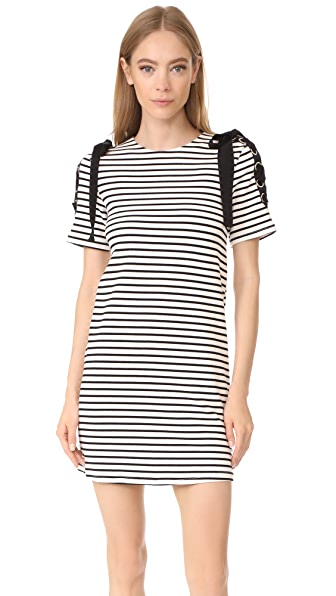 ENGLISH FACTORY Stripe Tie Dress