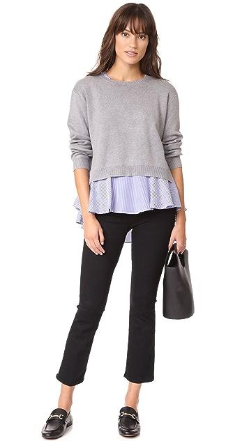 ENGLISH FACTORY Combo Flounce Sweater