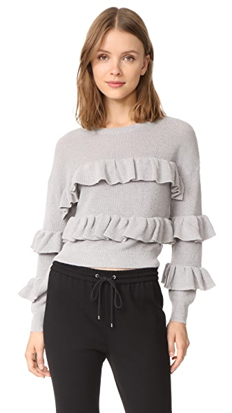 ENGLISH FACTORY Ruffle Sweater