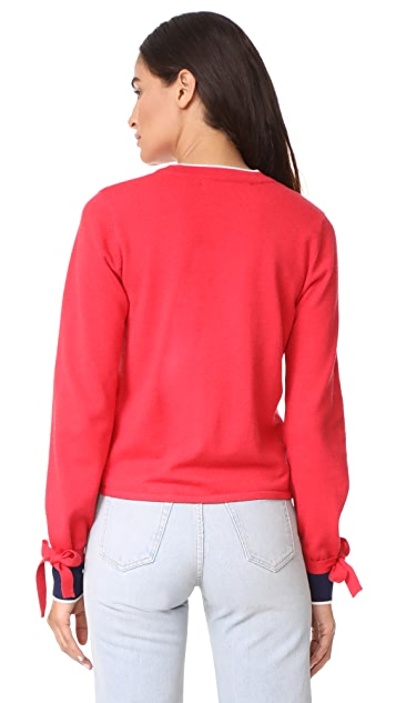 ENGLISH FACTORY Contrast Pocket Sweater