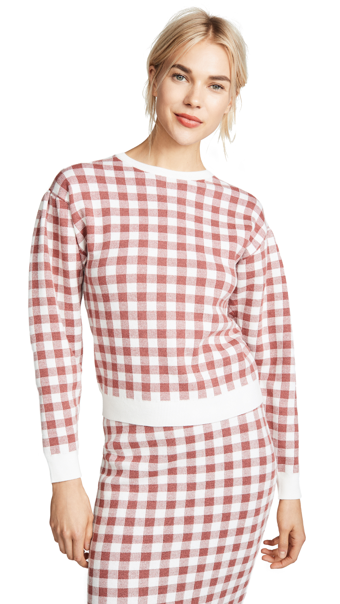 ENGLISH FACTORY LEG OF MUTTON SLEEVE TOP