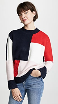 678c1b8dc8 ENGLISH FACTORY. Patchwork Knit Sweater