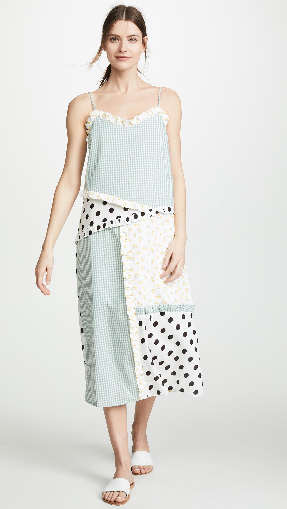 3f449d5fd5 ENGLISH FACTORY Mixed Print Slip Dress | SHOPBOP