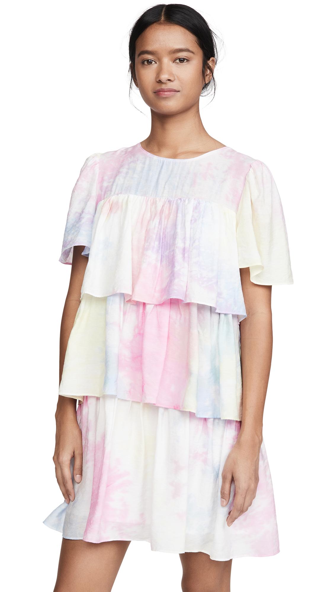 Buy ENGLISH FACTORY Shirring A-Line Short Dress online beautiful ENGLISH FACTORY Clothing, Dresses