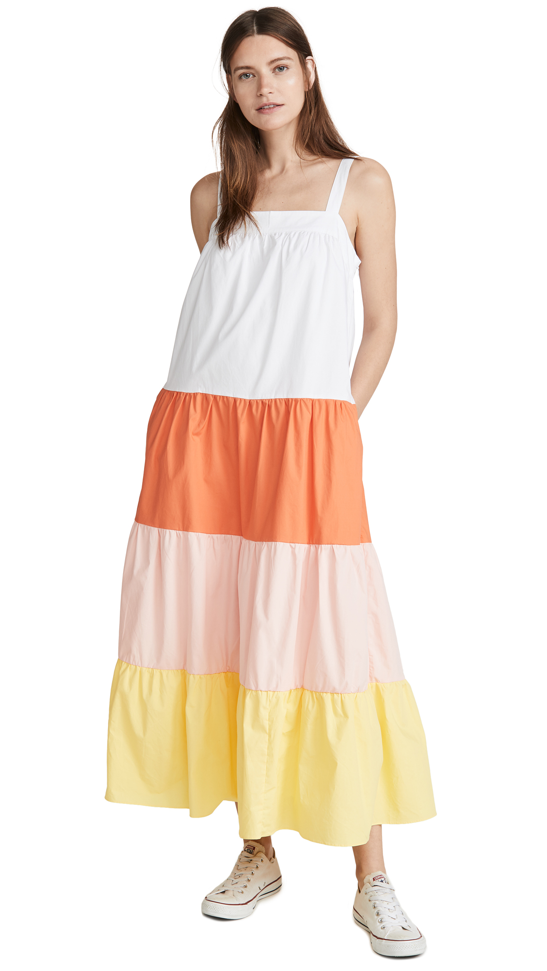 Buy ENGLISH FACTORY Colorblock Sleeveless Dress online beautiful ENGLISH FACTORY Clothing, Dresses