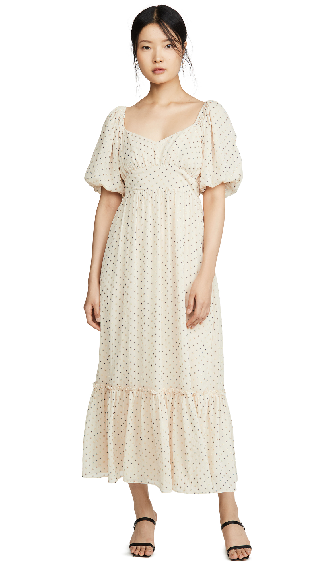ENGLISH FACTORY Empire Maxi Puff Sleeve Dress - 30% Off Sale