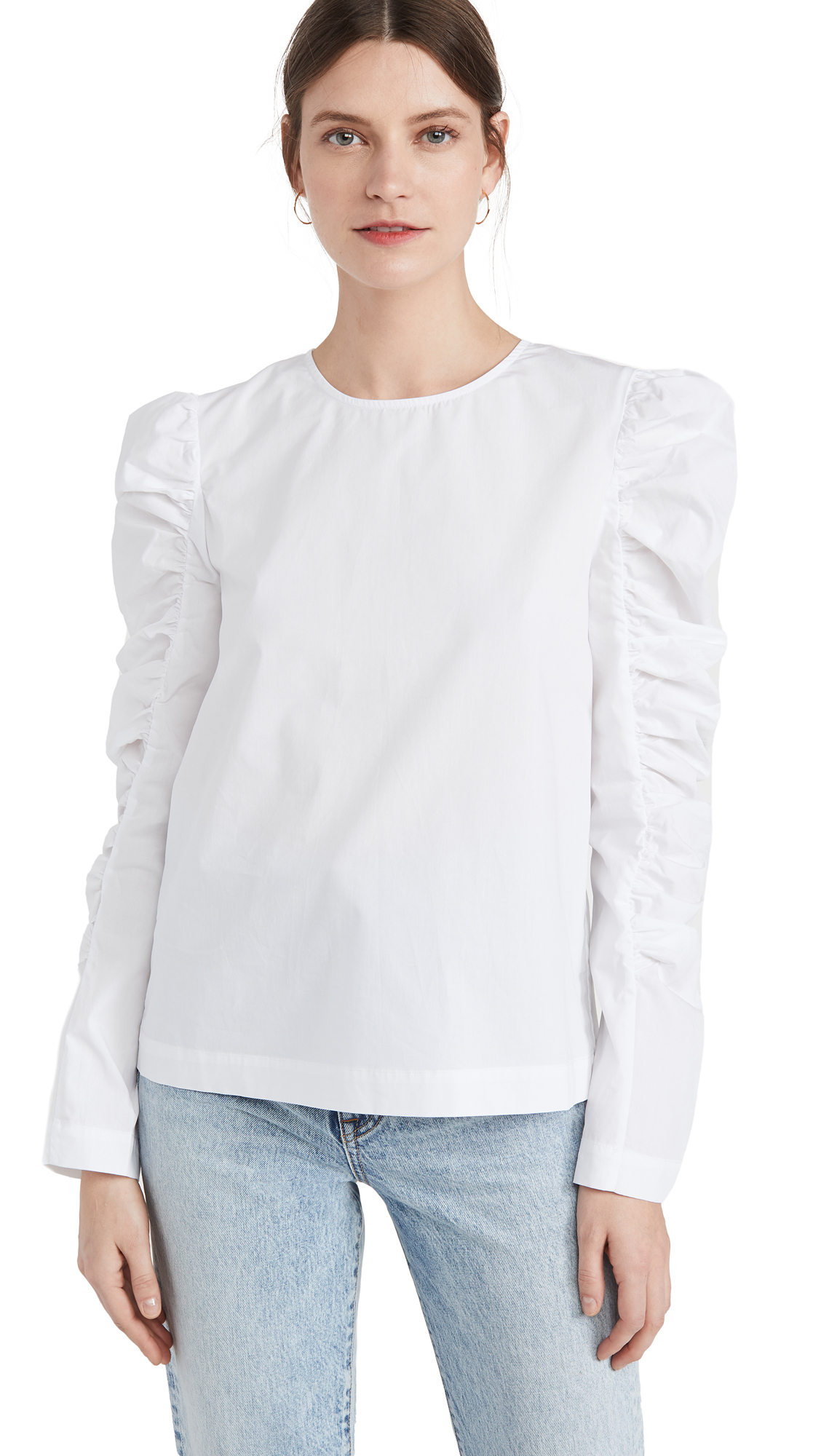 ENGLISH FACTORY Gathered Puff Long Sleeve Top
