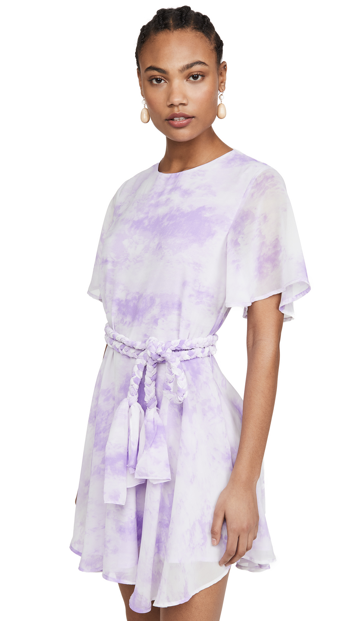 Buy ENGLISH FACTORY Tie Dye Braided Belt Dress online beautiful ENGLISH FACTORY Clothing, Dresses