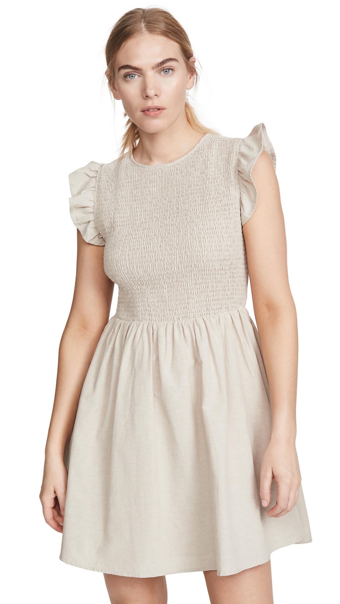 Buy ENGLISH FACTORY Smocked Ruffle Sleeve Dress online beautiful ENGLISH FACTORY Clothing, Dresses