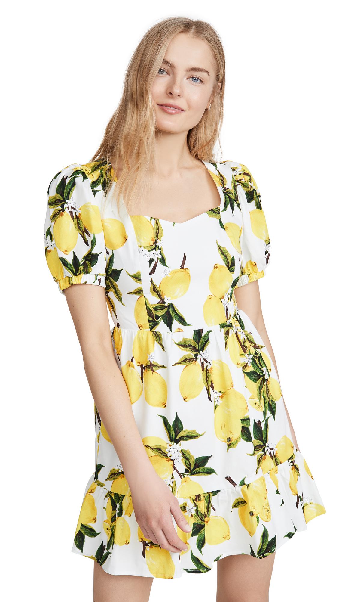 Buy ENGLISH FACTORY Lemon Print Mini Dress online beautiful ENGLISH FACTORY Clothing, Dresses