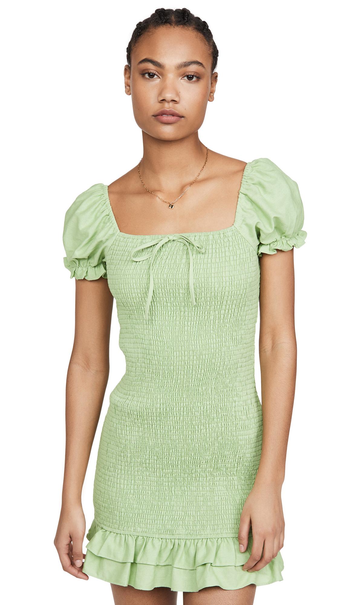 Buy ENGLISH FACTORY Smocked Mini Dress online beautiful ENGLISH FACTORY Clothing, Dresses