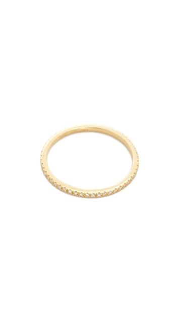 EF Collection 14k Gold Diamond Eternity Stack Ring