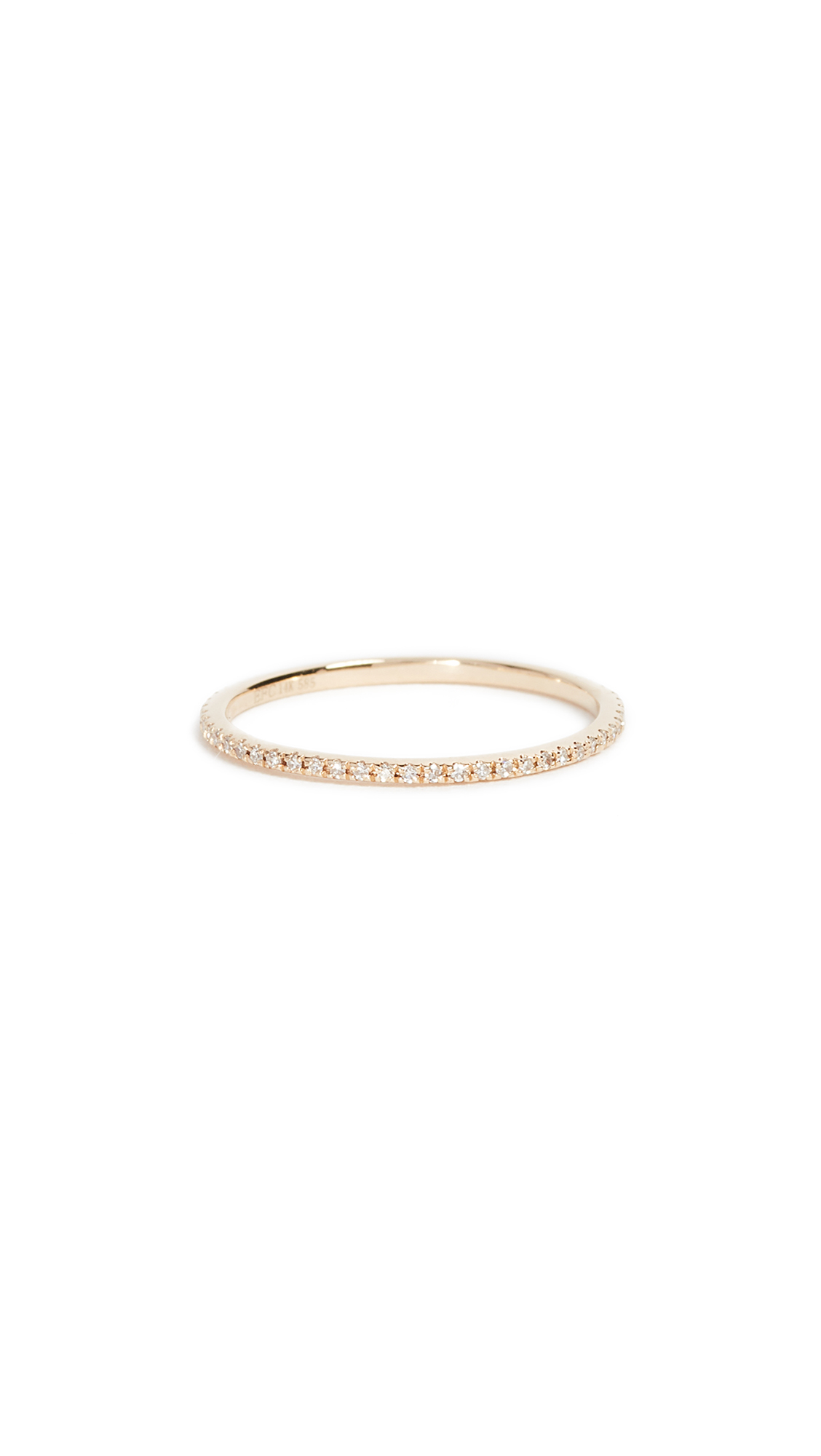 EF Collection 14k Gold Diamond Eternity Stack Ring - Yellow Gold/Clear