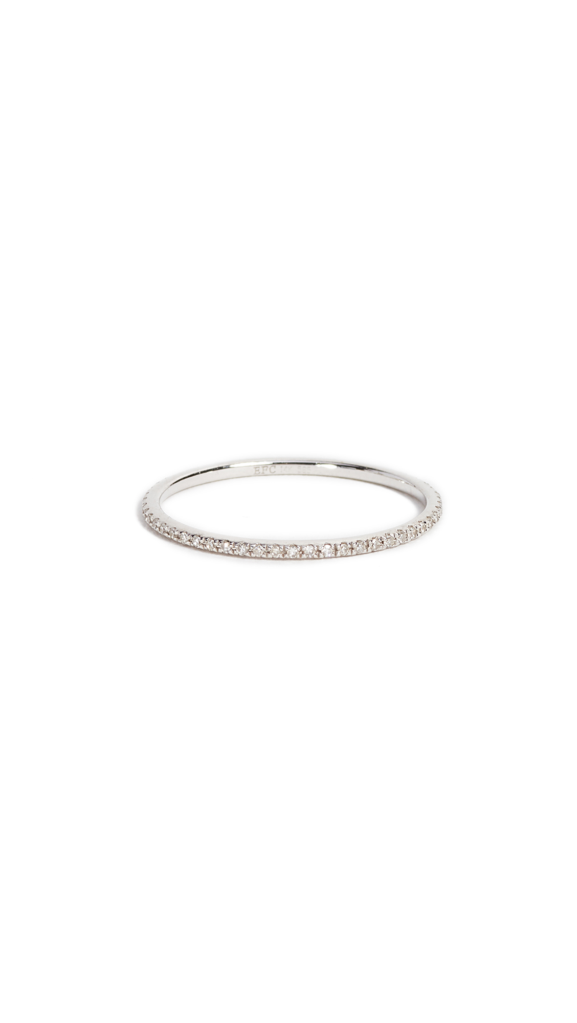 EF Collection Diamond Eternity Stack Ring - White Gold/Clear