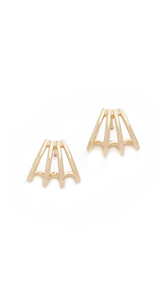 EF Collection 14k Gold Multi Huggie Earrings