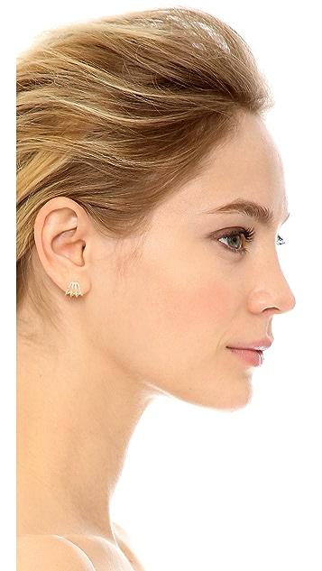 EF Collection 14k Gold Multi Huggie Earrings