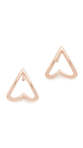 EF Collection 14k Rose Gold Chevron Wrap Stud Earrings
