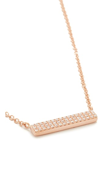 EF Collection Mini Diamond Bar Necklace