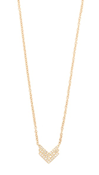 EF Collection Diamond Shield Necklace
