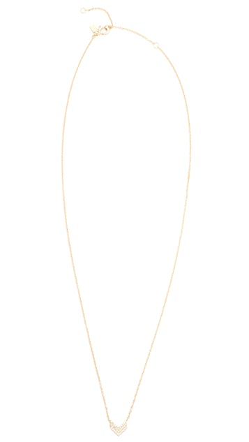 EF Collection 14k Gold Diamond Shield Necklace