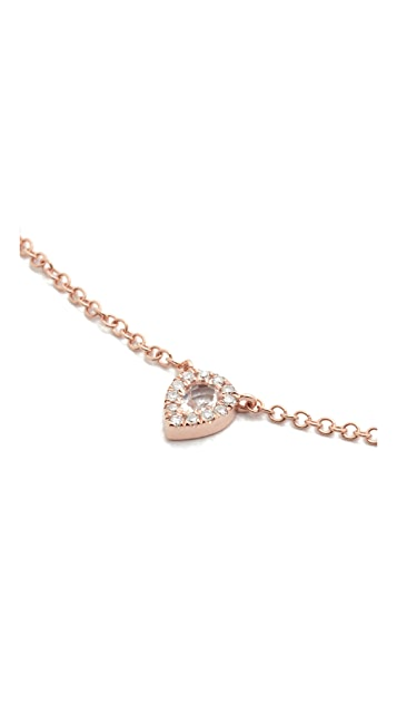 EF Collection 14k Gold Diamond Teardrop Choker Necklace