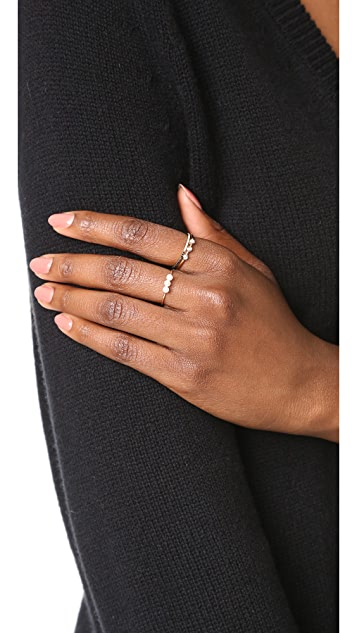 EF Collection 14k Gold Two Tone Eternity Stack Ring