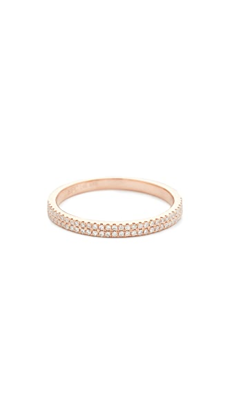 EF Collection 14k Gold Double Diamond Eternity Stack Ring