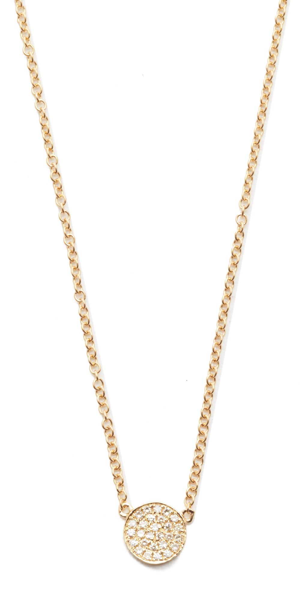 Diamond Mini Disc Necklace EF Collection