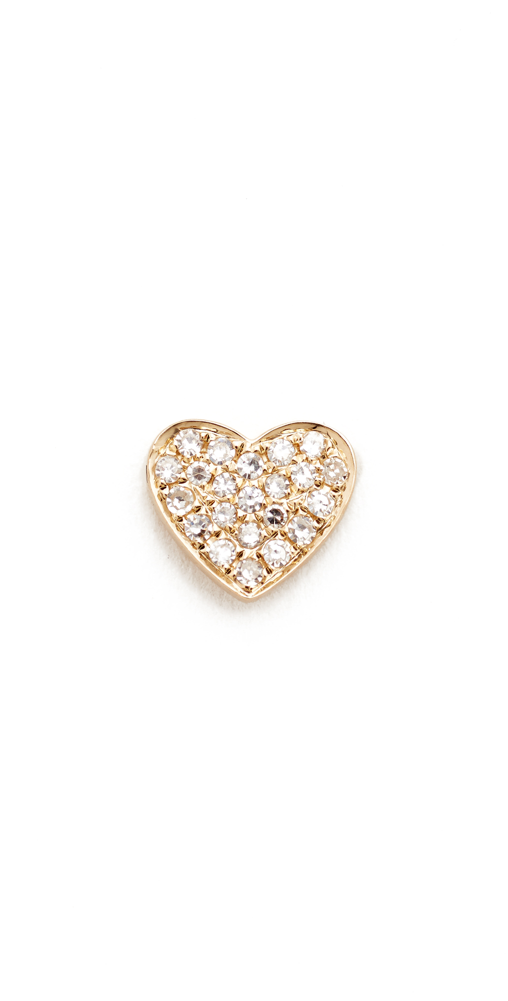 Diamond Heart Single Stud Earring EF Collection