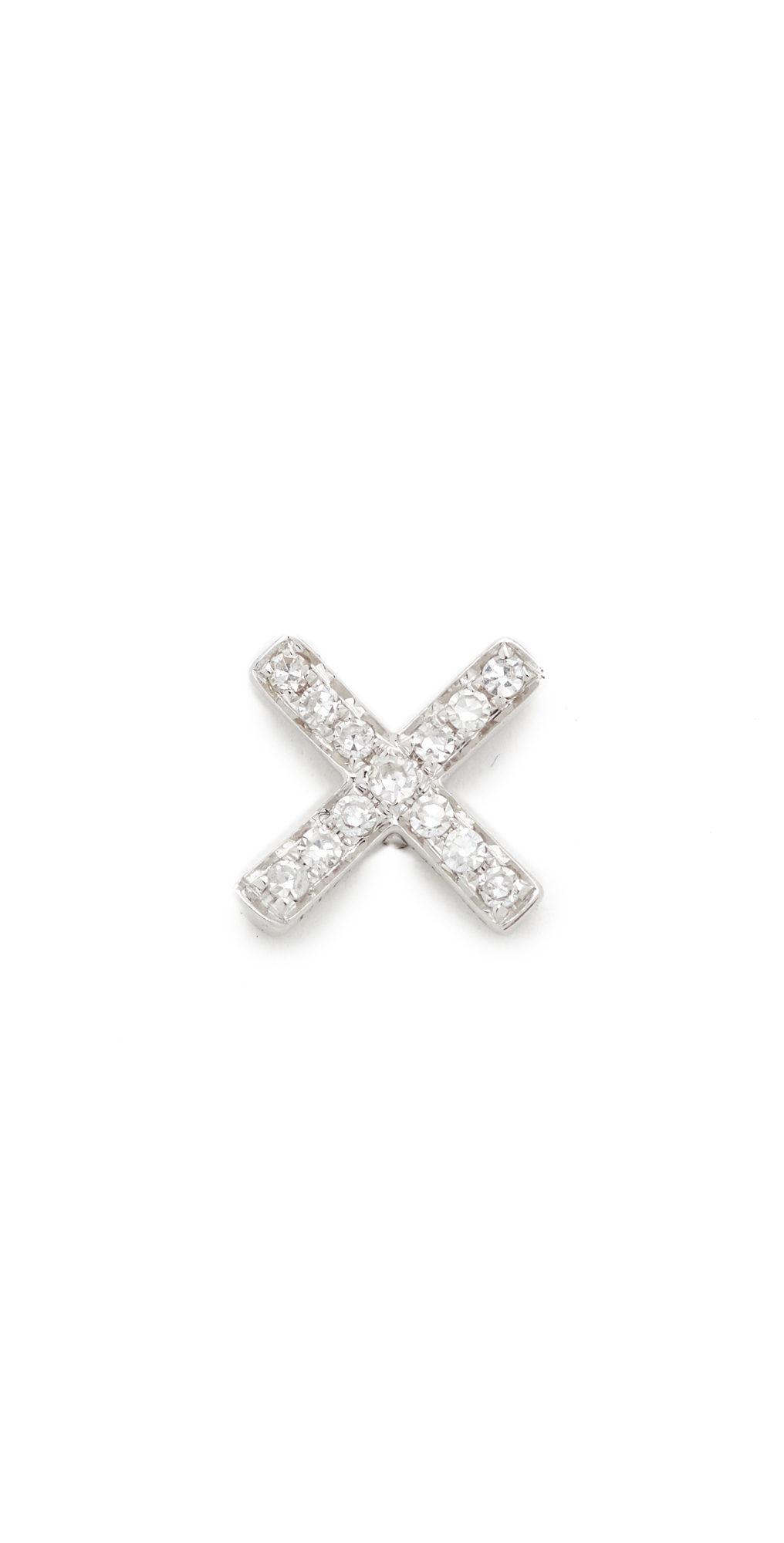 Diamond X Single Stud Earring EF Collection