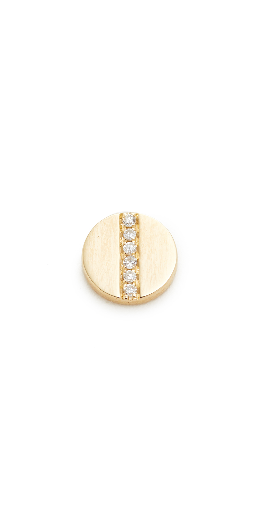Diamond Screw Single Stud Earring EF Collection