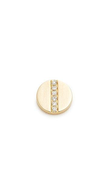 EF Collection Diamond Screw Single Stud Earring