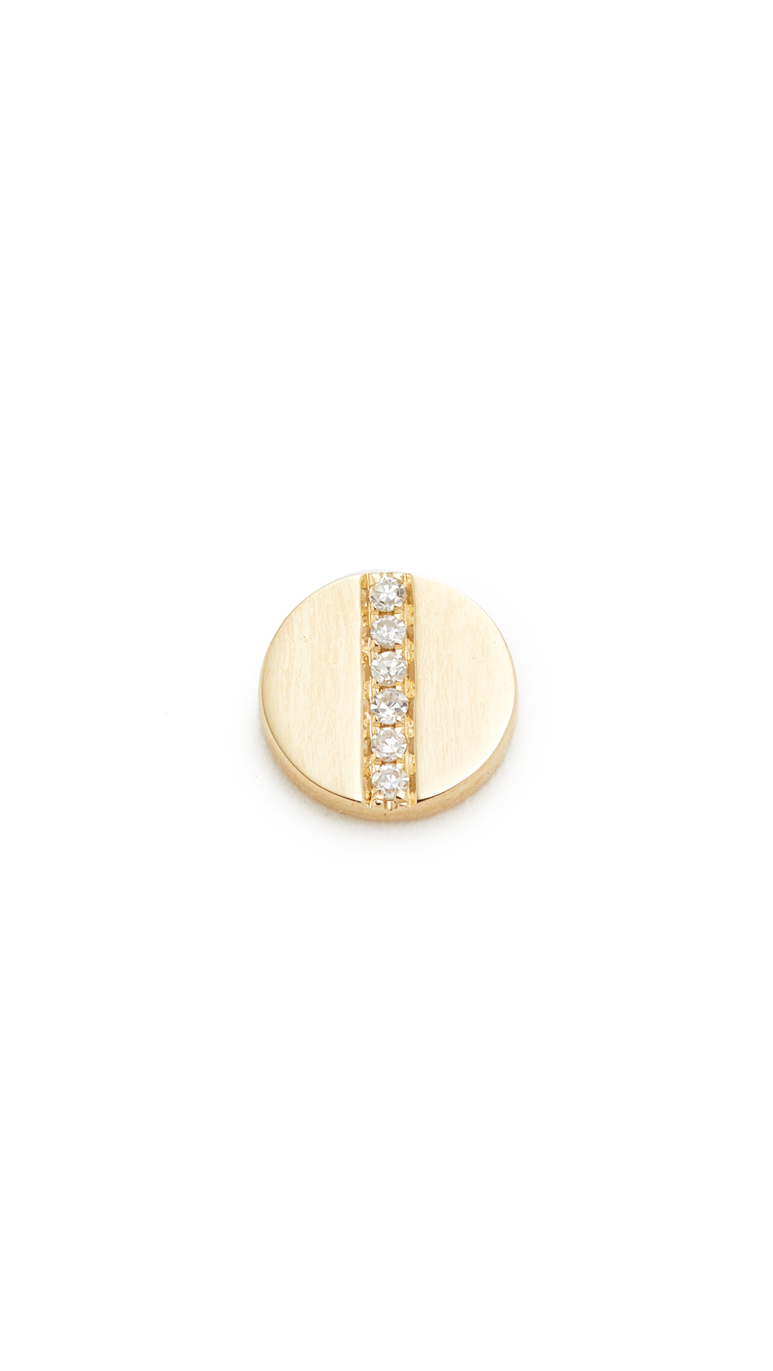 EF Collection Diamond Screw Single Stud Earring - Gold