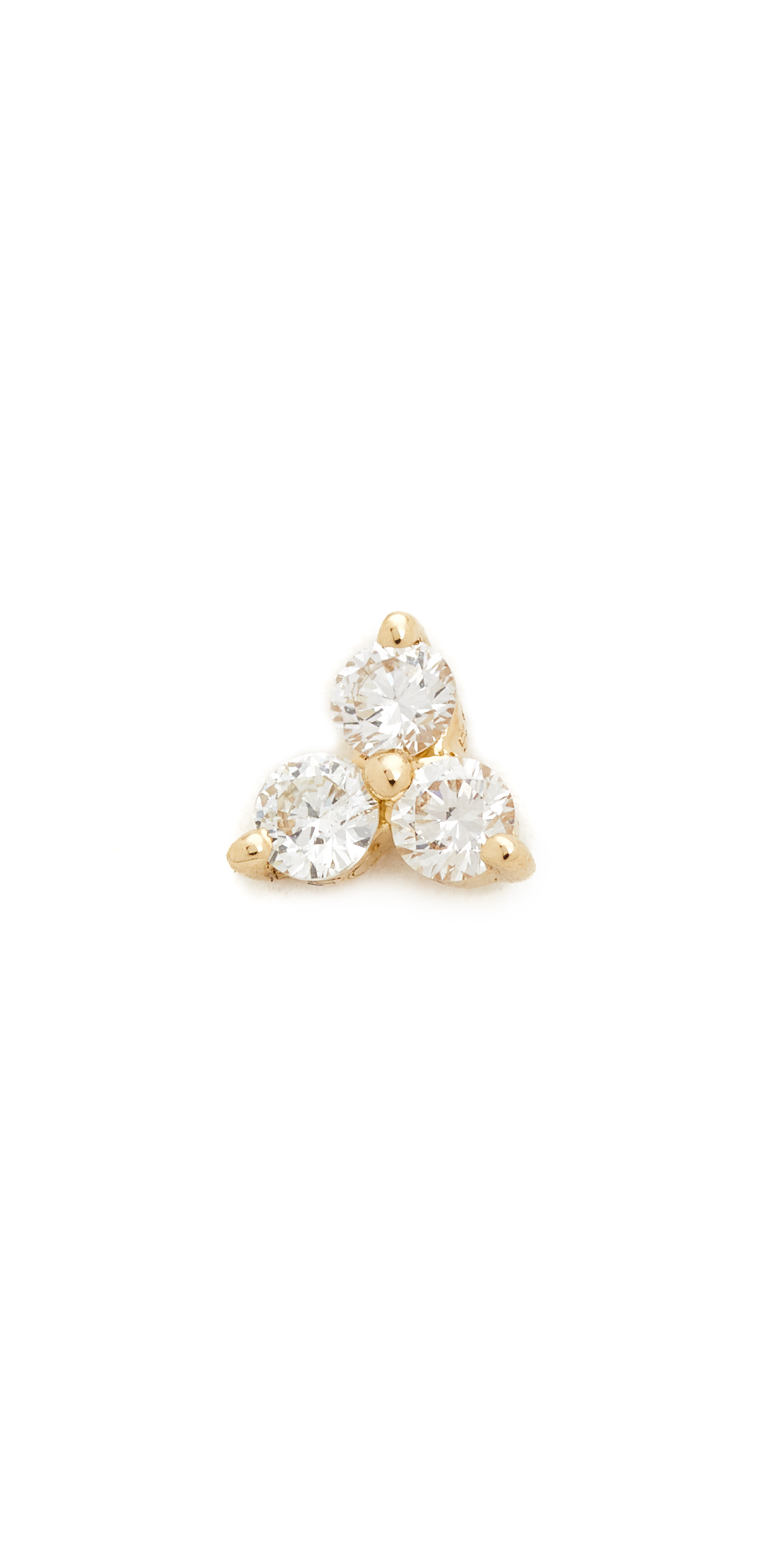 Diamond Trio Single Stud Earring EF Collection