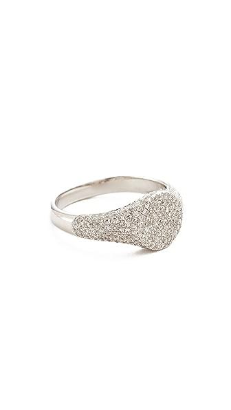 DIAMOND SIGNET PINKY RING