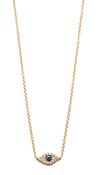 EF Collection Diamond Evil Eye Choker Necklace - Gold