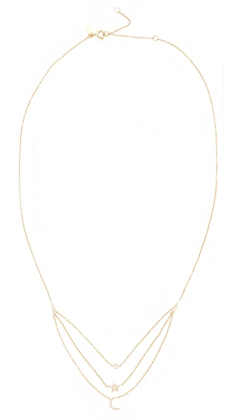 EF Collection 14k Gold Diamond Layered Necklace In Yellow Gold