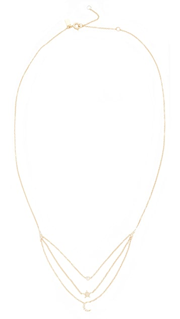 EF Collection 14k Gold Diamond Layered Necklace