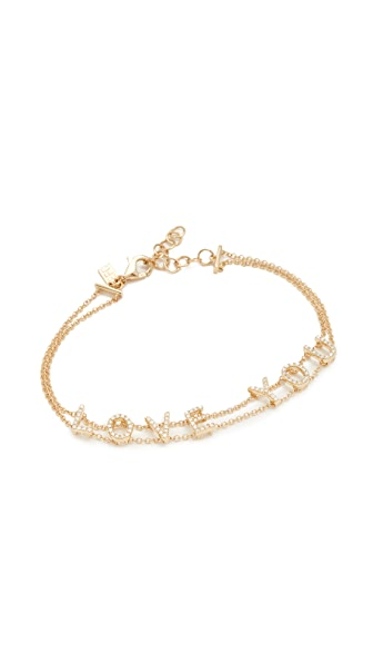 EF Collection 14k Gold Diamond Bracelet In Yellow Gold