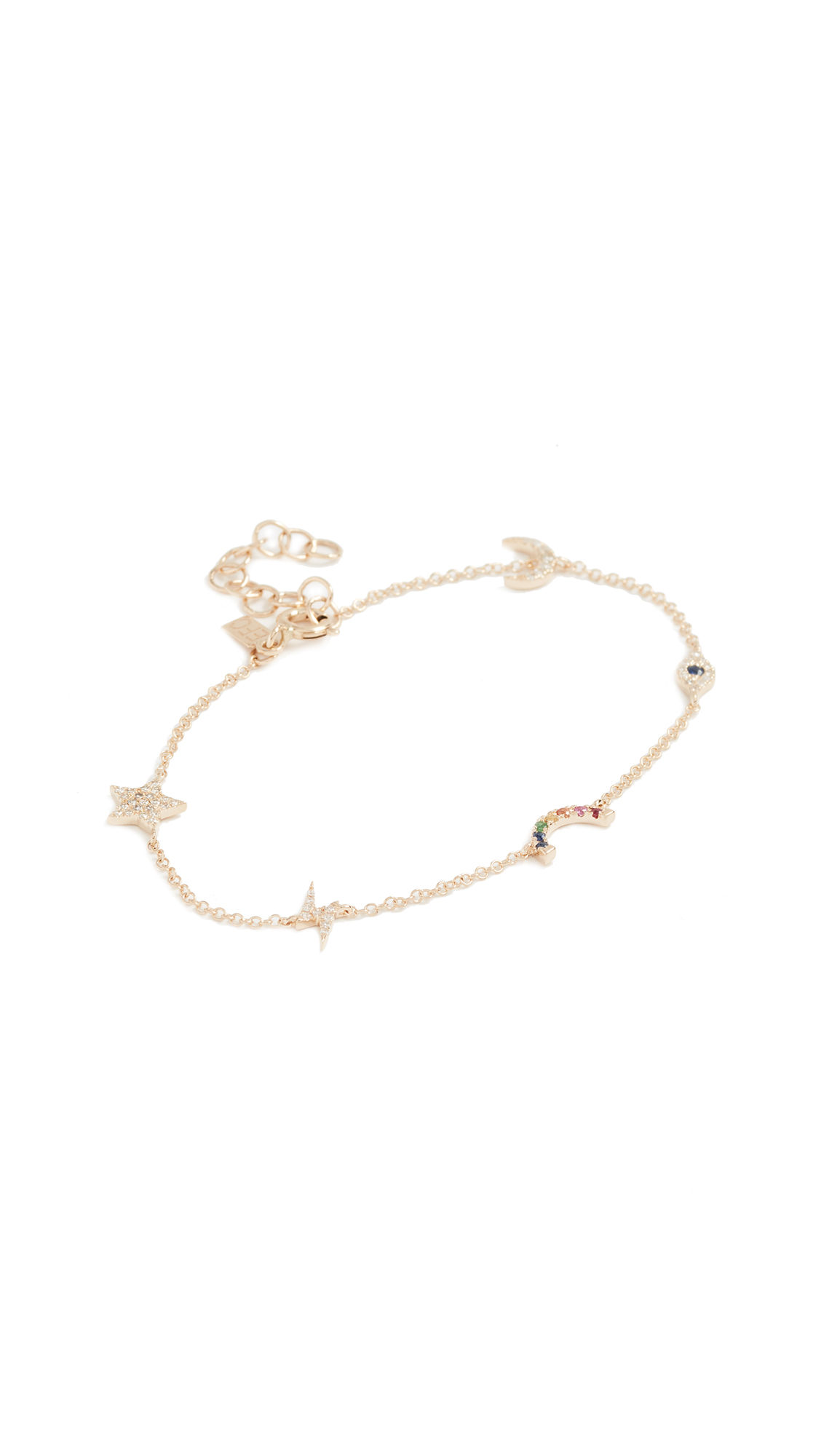 EF Collection 14k Gold Diamond Cosmic Charm Bracelet - Yellow Gold