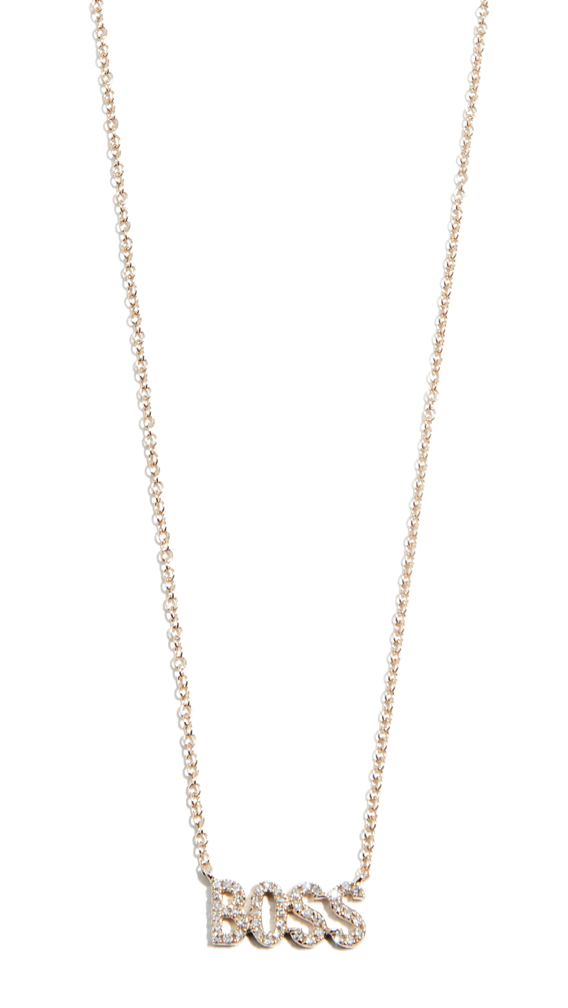 Ef Collection 14k Diamond Boss Necklace