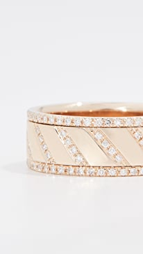 730d5ec550ec1b EF Collection. 14k Multi Diamond Slash Spinning Ring