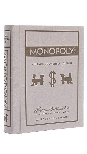 East Dane Gifts Monopoly Vintage Bookshelf Edition