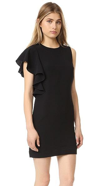 Elizabeth and James Luca Ruffle Dress - Black