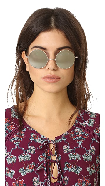 Elizabeth and James Mott Round Sunglasses