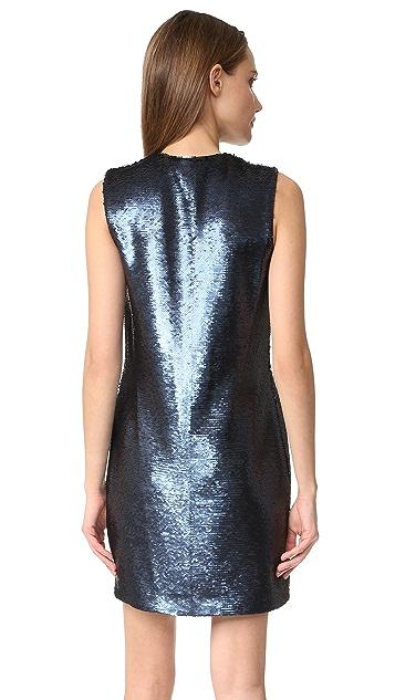 Elizabeth and James Wesley Deep V Sleeveless Sequin Dress