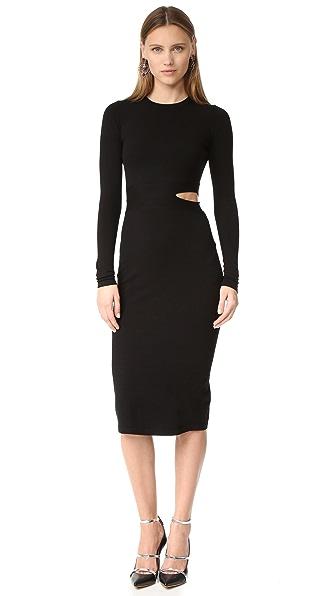 Elizabeth and James Railey Slit Waist Dress - Black