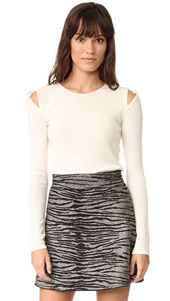 Elizabeth and James Ryan Tie Shoulder Sweater - Ivory
